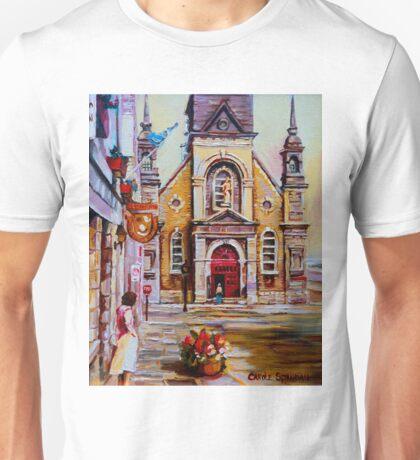 CANADIAN URBAN PAINTINGS MONTREAL SCENES BY CANADIAN ARTIST CAROLE SPANDAU Unisex T-Shirt