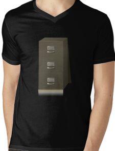 Glitch Groddle Land cubicle cabinet base Mens V-Neck T-Shirt