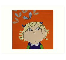 Lola with Butterfly Kisses Art Print