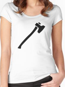 Black ax Women's Fitted Scoop T-Shirt