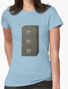 Glitch Groddle Land cubicle cabinet stack Womens Fitted T-Shirt