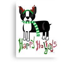 Cute Holiday Pup Canvas Print