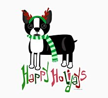 Cute Holiday Pup Unisex T-Shirt