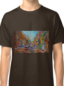 PAINTINGS OF THE OLD CITY OF MONTREAL CANADIAN URBAN SCENES BY CANADIAN ARTIST CAROLE SPANDAU Classic T-Shirt