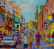 PAINTINGS OF THE OLD CITY OF MONTREAL CANADIAN URBAN SCENES BY CANADIAN ARTIST CAROLE SPANDAU Sticker