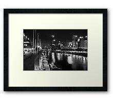 One night in Melbourne Framed Print