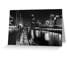 One night in Melbourne Greeting Card
