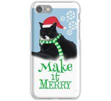 Funny Holiday Tuxedo Cat iPhone Case/Skin