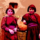 Two Hopi Girls by Tracy Lee Mead