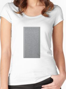 Glitch Groddle Land cubicle wall center Women's Fitted Scoop T-Shirt