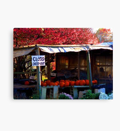 #120  Local Farm Stand Canvas Print