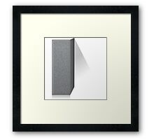 Glitch Groddle Land cubicle wall left Framed Print