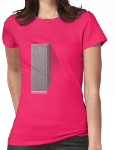 Glitch Groddle Land cubicle wall left Womens Fitted T-Shirt