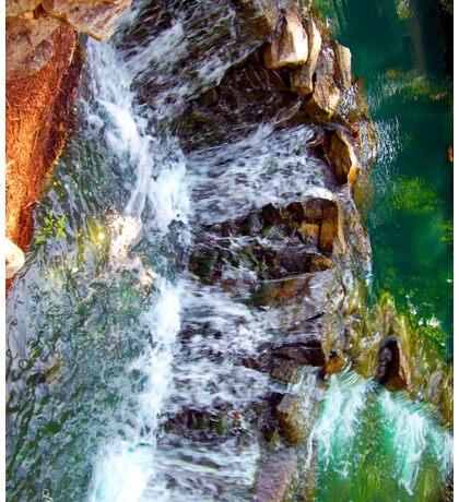 waterfall at busch gardens Sticker
