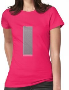 Glitch Groddle Land cubicle wall right Womens Fitted T-Shirt