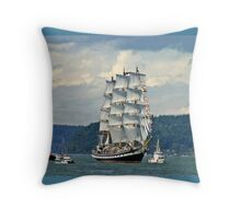 Tall Ship Pallada Throw Pillow