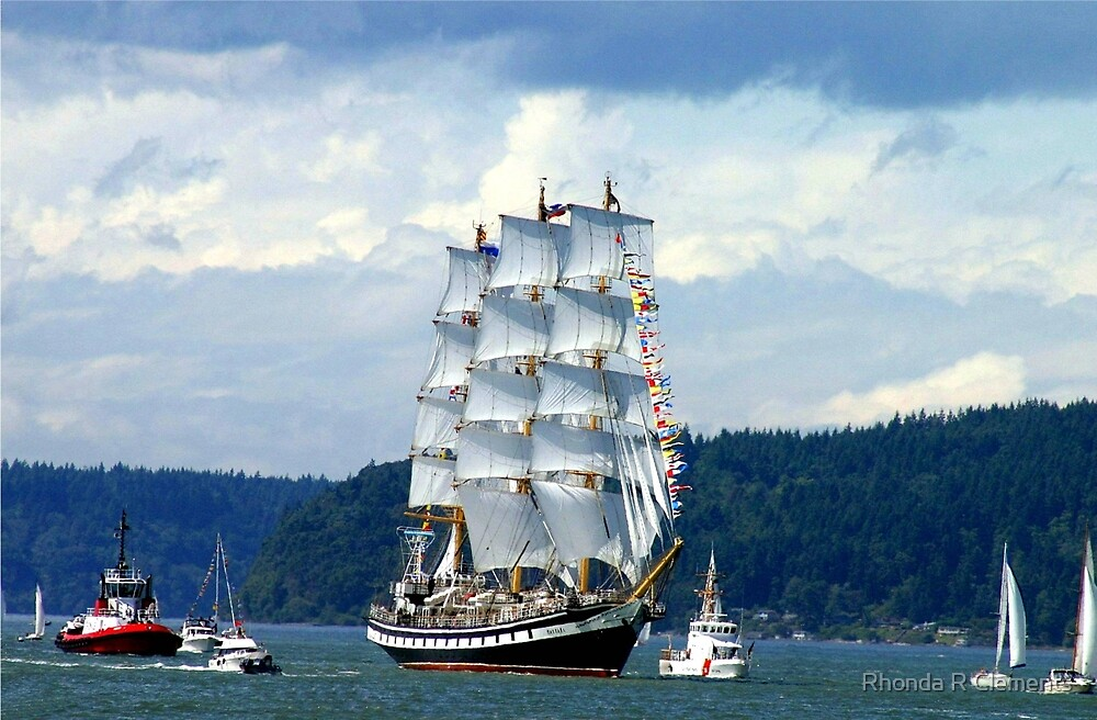 Tall Ship Pallada by Rhonda R Clements