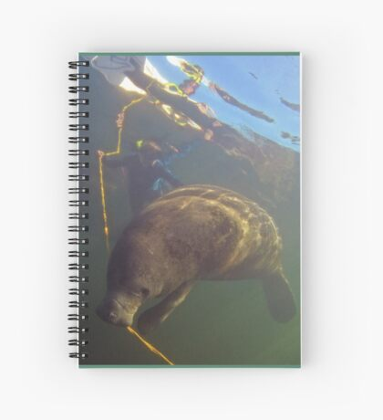 Libby's flossing Florida manatee Spiral Notebook