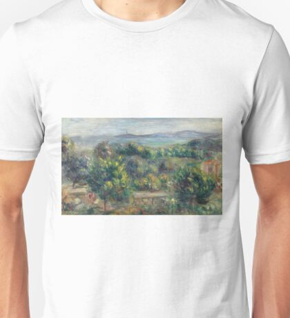 Auguste Renoir - Landscape With Trees In Yellow, 1900 Unisex T-Shirt