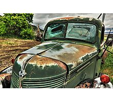 Old International Truck Photographic Print
