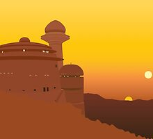Jabba's Palace - Sunset on Tatooine by alphallama