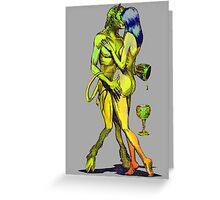 Erotic art hot sex in brillant vibrant colours Greeting Card