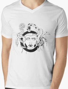 Medusa Mens V-Neck T-Shirt