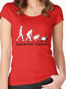 Supernatural Selection (on Light backgrounds) Women's Fitted Scoop T-Shirt