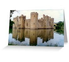 Bodium Castle on a summer's afternoon Greeting Card