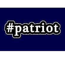 Patriot - Hashtag - Black & White Photographic Print