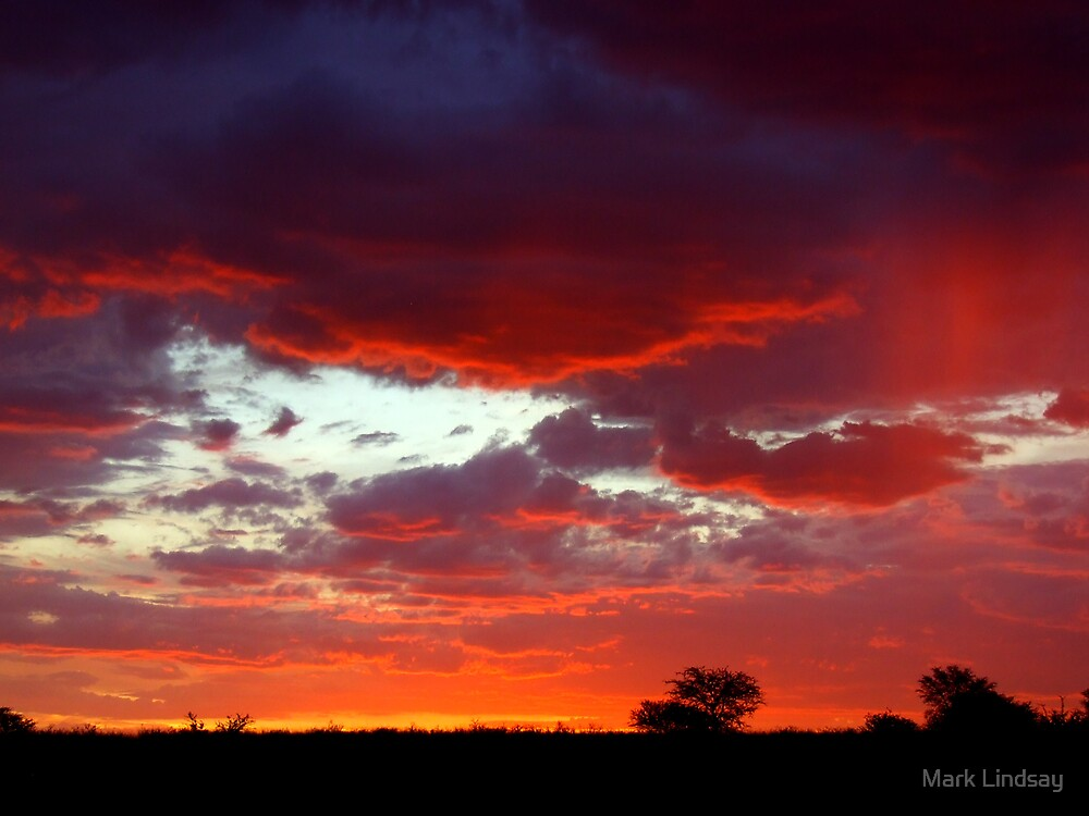 Fiery sunset by Mark Lindsay