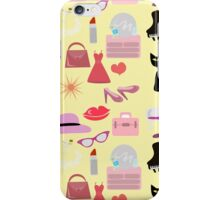 Retro Girly Glam Pattern iPhone Case/Skin