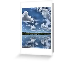 puffy clouds on blue Greeting Card