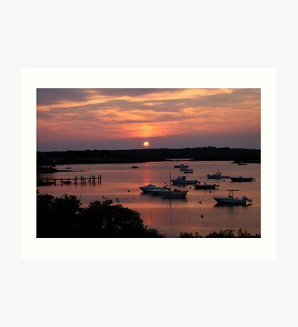 Marthas Vineyard Sunset Art Print