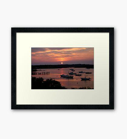 Marthas Vineyard Sunset Framed Print