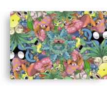 Grass Type Pokémon Collage Canvas Print