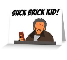 Brick Throwing Marv Greeting Card