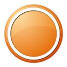 Orange Button by Henrik Lehnerer