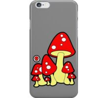 Mushrooms Red iPhone Case/Skin