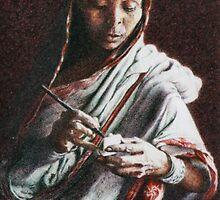 """""""SARI"""" 3.25"""" X 5""""  by Neale Sommersby"""