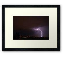 Summer storms Framed Print