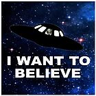 I Want to Believe 2014 V1 ( Pillows & Totes ) by PopCultFanatics