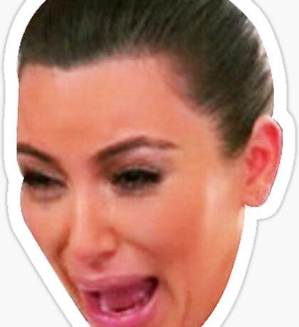 Crying Kim K Kardashian MEME  Sticker