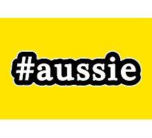 Aussie - Hashtag - Black & White Photographic Print