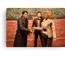 When Captain Jack Met River Song Canvas Print