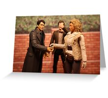 When Captain Jack Met River Song Greeting Card