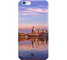 Panorama of Philadelphia Sunset iPhone Case/Skin