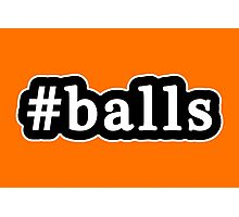 Balls - Hashtag - Black & White Photographic Print