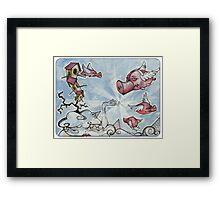 when pigs fly... Framed Print