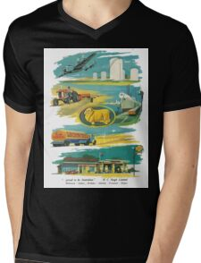 Retro Golden Fleece Mens V-Neck T-Shirt